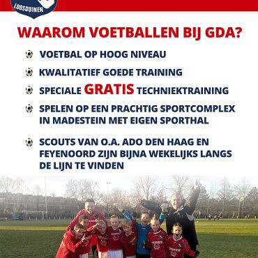 Flyer GDA Jeugd voorkant